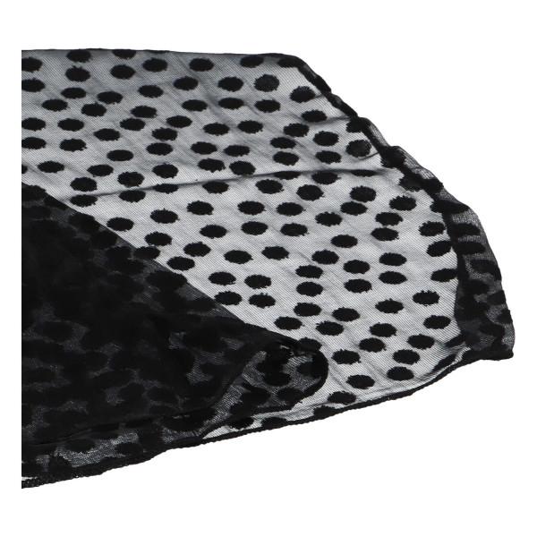 Elegantní letní šátek Lia kolem krku, černá