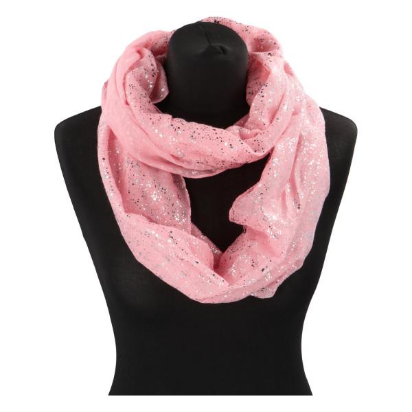 Dámský lehký šátek Sprinkle, tmavě růžový