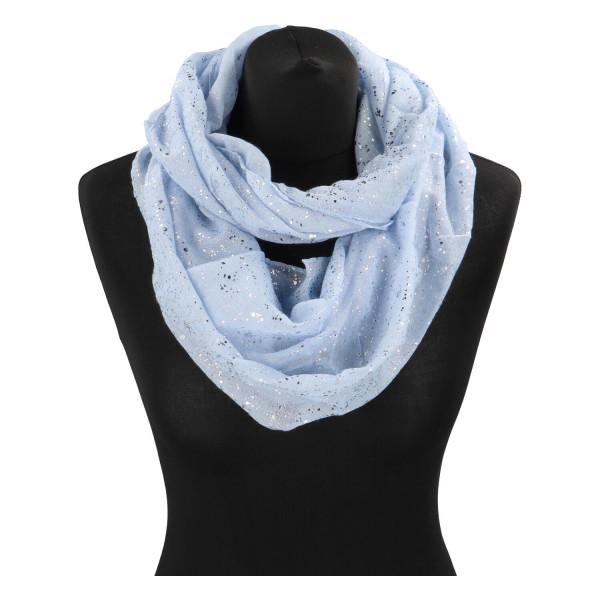 Dámský lehký šátek Sprinkle, světle modrý