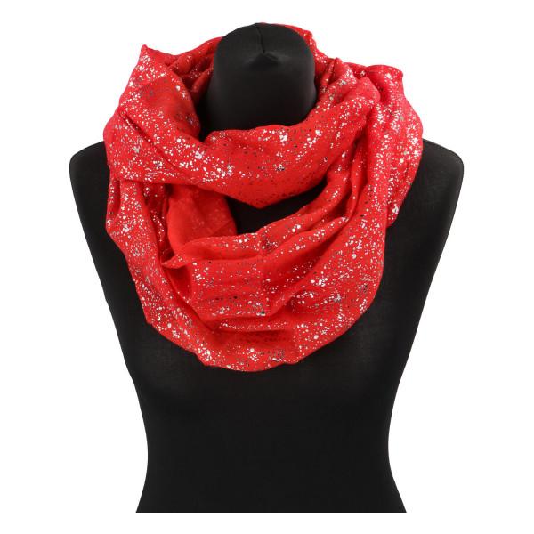 Dámský lehký šátek Sprinkle, červený