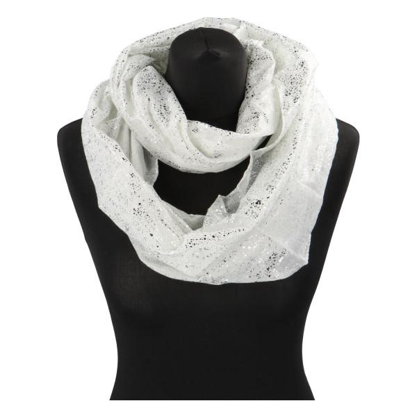 Dámský lehký šátek Sprinkle, bílý