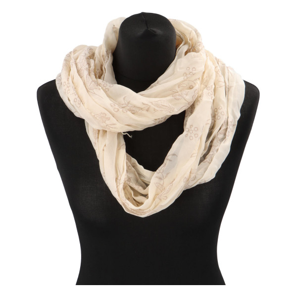 Krásný lehký šátek Flora, béžový
