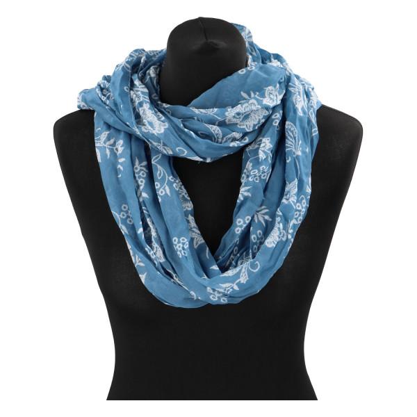 Krásný lehký šátek Flora, modrý