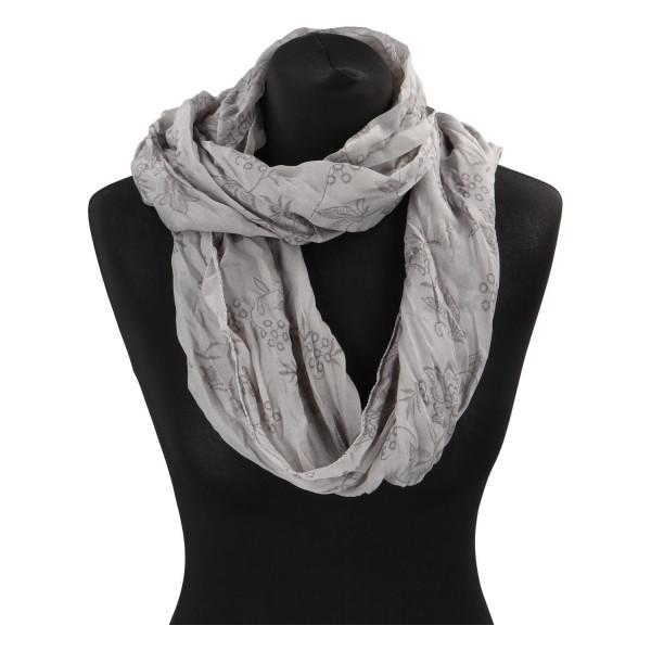 Krásný lehký šátek Flora, šedý