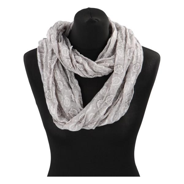 Módní lehký šátek Pam, šedý
