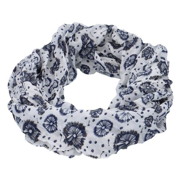 Módní lehký šátek Pam, modro-bílý