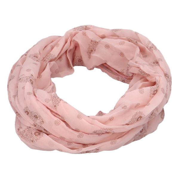 Lehký dámský šátek Planty, růžový