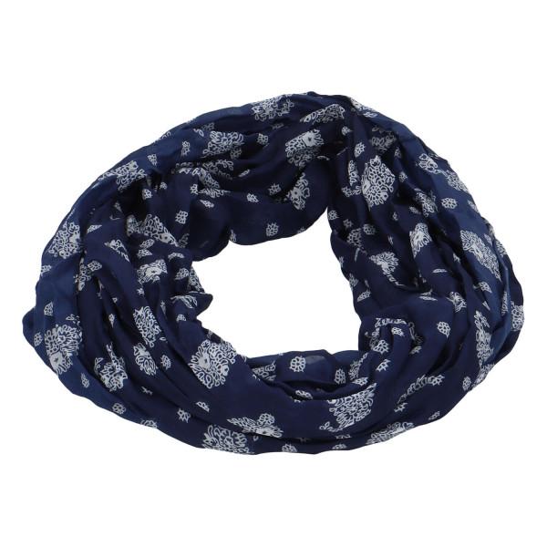 Lehký dámský šátek Planty, tmavě modrý