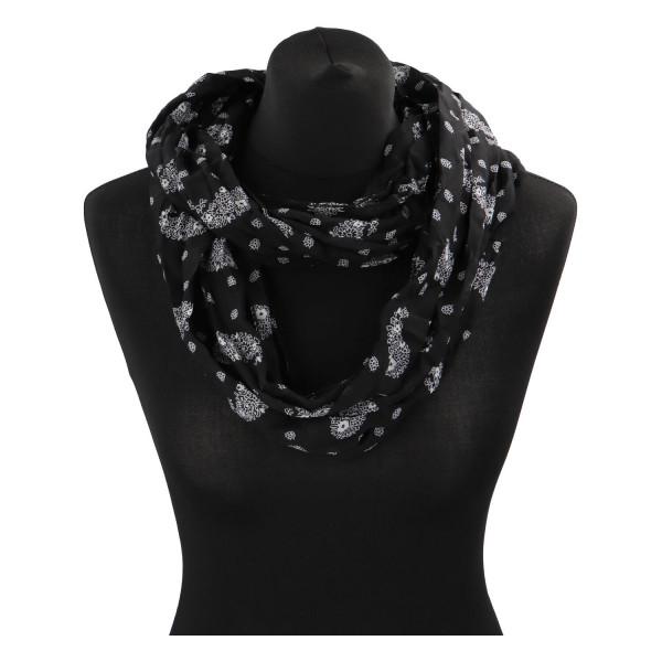 Lehký dámský šátek Planty, černý