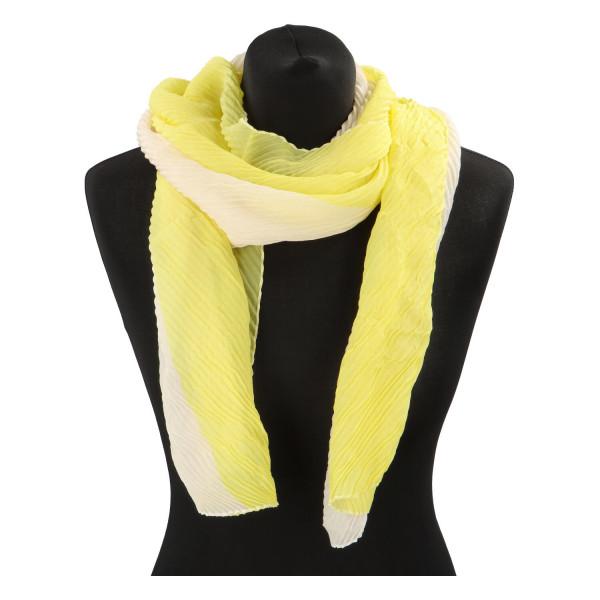 Lehký barevný šátek Semi, žlutý