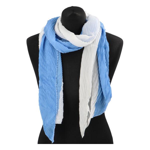 Lehký barevný šátek Semi, modrý