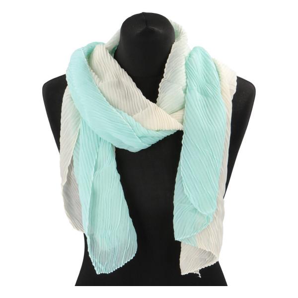 Lehký barevný šátek Semi, zelený