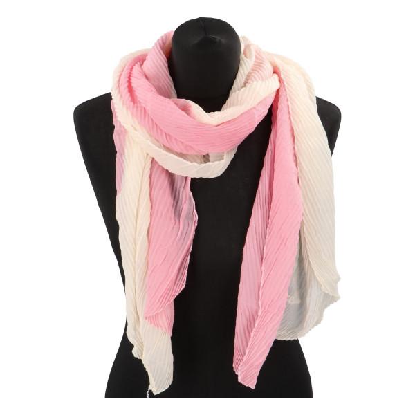 Lehký barevný šátek Semi, růžový