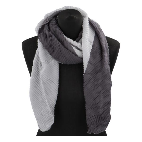 Lehký barevný šátek Semi, šedý