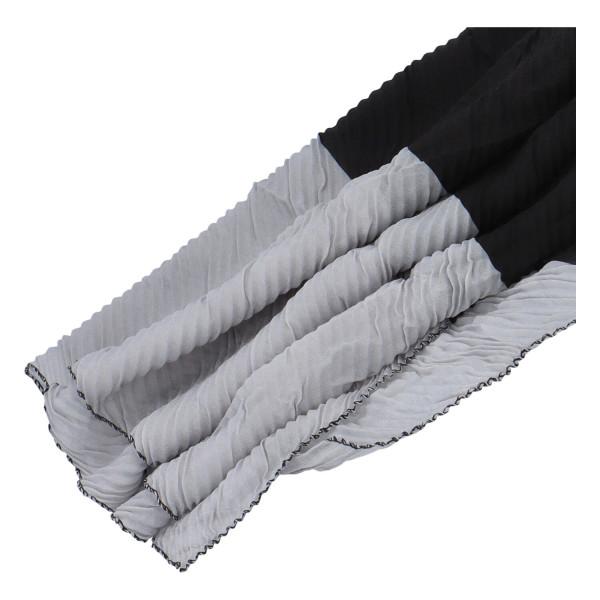Lehký barevný šátek Semi, černý