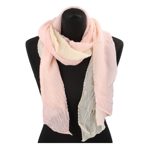 Lehký barevný šátek Semi, světle růžový