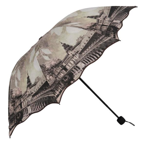 Stylový deštník Traveler, hnědý