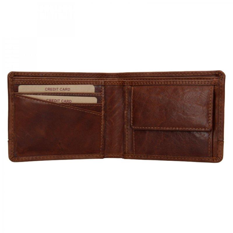 Pánská peněženka kožená Lagen Endy, hnědá