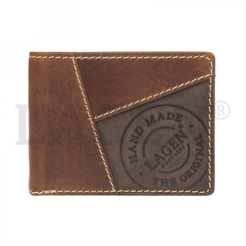 Pánská peněženka Lagen kožená , světle hnědá
