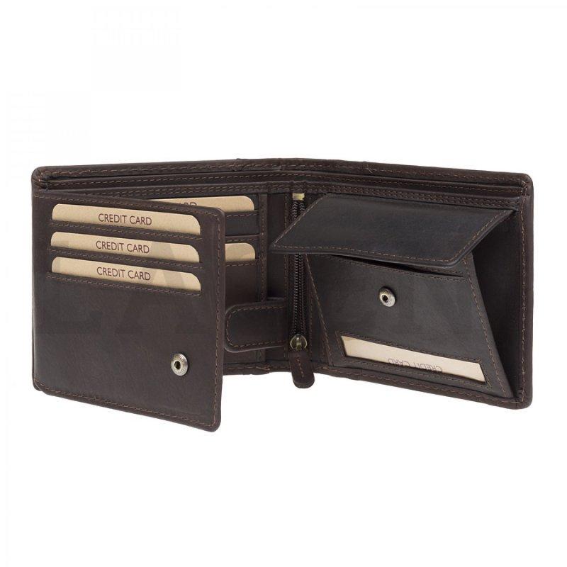 Pánská peněženka Lagen Jimmy kožená, hnědá