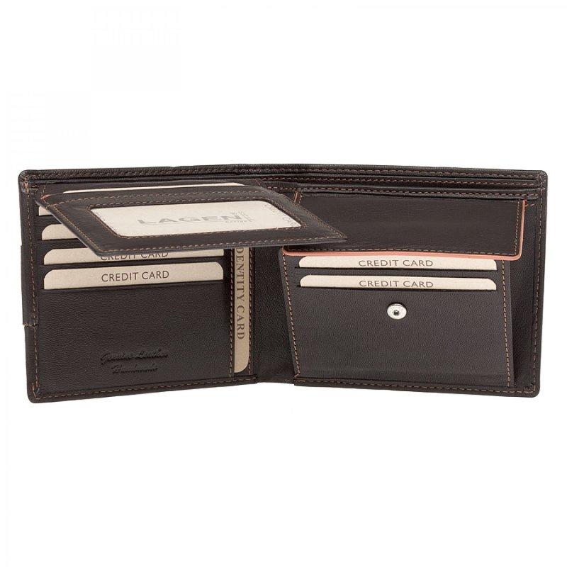 Pánská peněženka kožená Lagen Emilio, hnědá