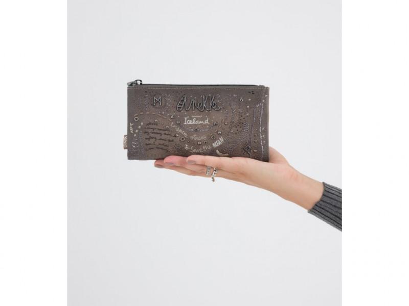 Dámská koženková peněženka Anekke Rune měkká, hnědá