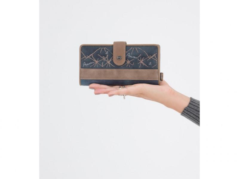 Dámská koženková peněženka Iceland velká, modrá