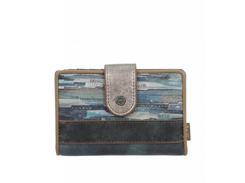 Dámská koženková peněženka Anekke Iceland střední, modrá