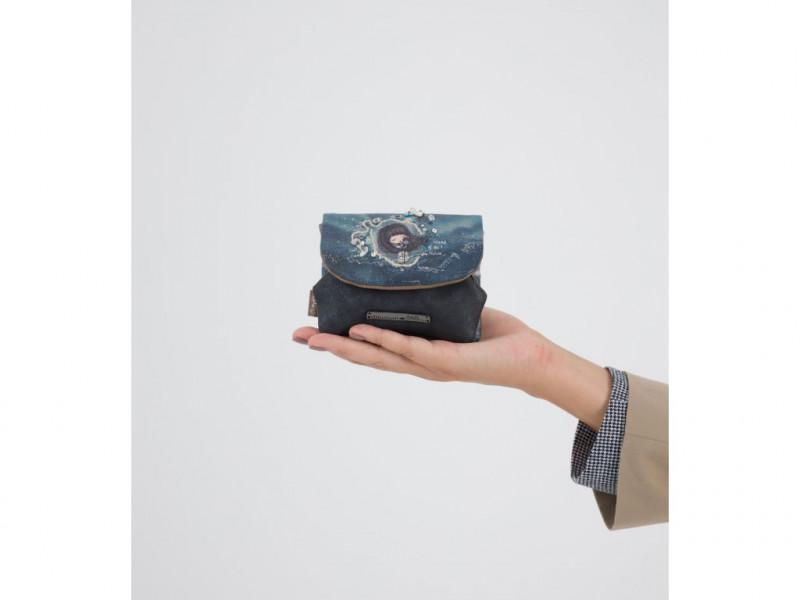 Dámská koženková peněženka na mince Anekke Iceland , modrá