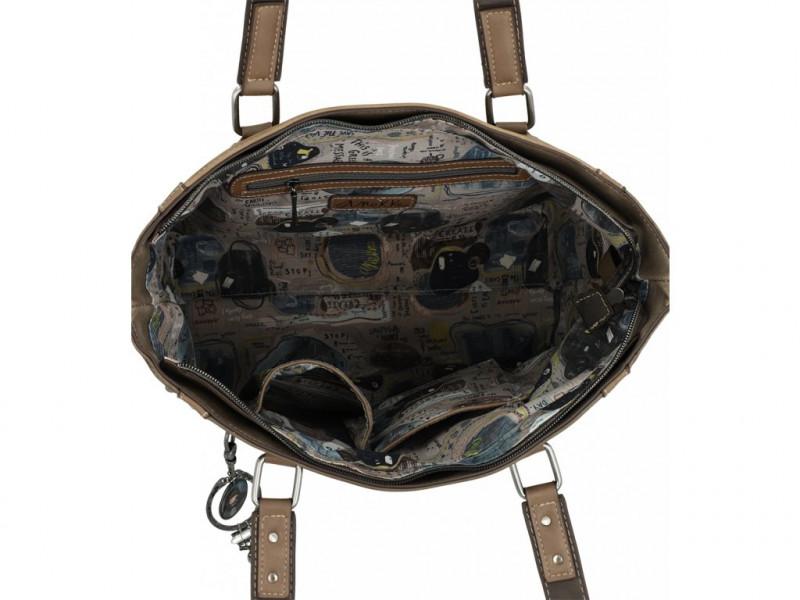 Dámská koženková velká kabelka na rameno Anekke Rune, hnědá