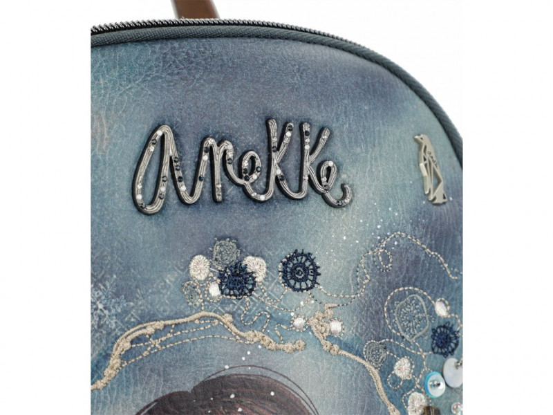 Dámský koženkový batoh Anekke Iceland, modrý