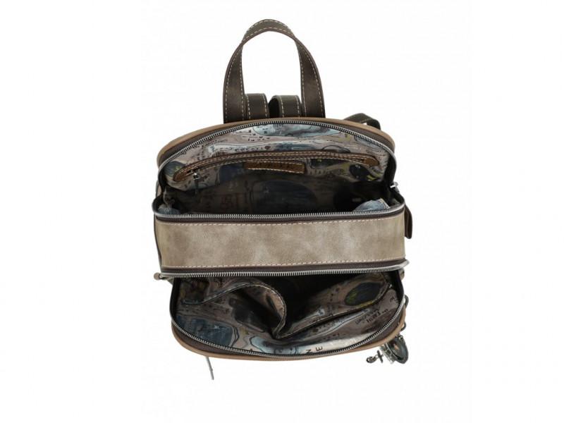 Dámská koženkový batoh Vintage Anekke Rune, hnědý