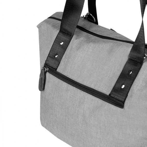 Cestovní taška a taška na kočárek 2 v 1 VUCH Trinita, šedá
