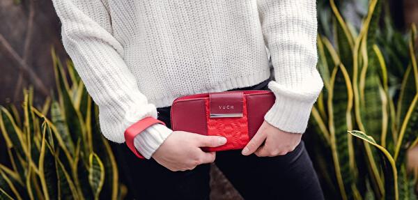 Dámská kožená peněženka Vuch Naira vínová