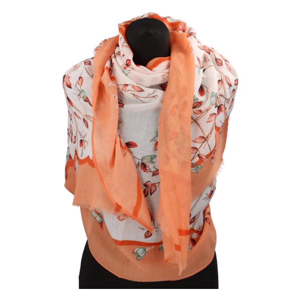 Krásný vzorovaný šátek Zemfira, oranžová