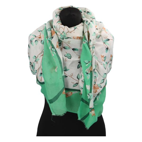 Krásný vzorovaný šátek Zemfira, zelená