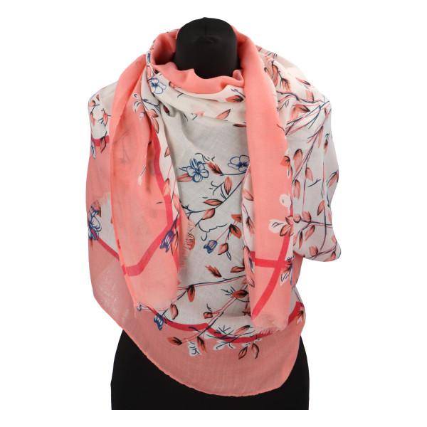 Krásný vzorovaný šátek Zemfira, meruňková