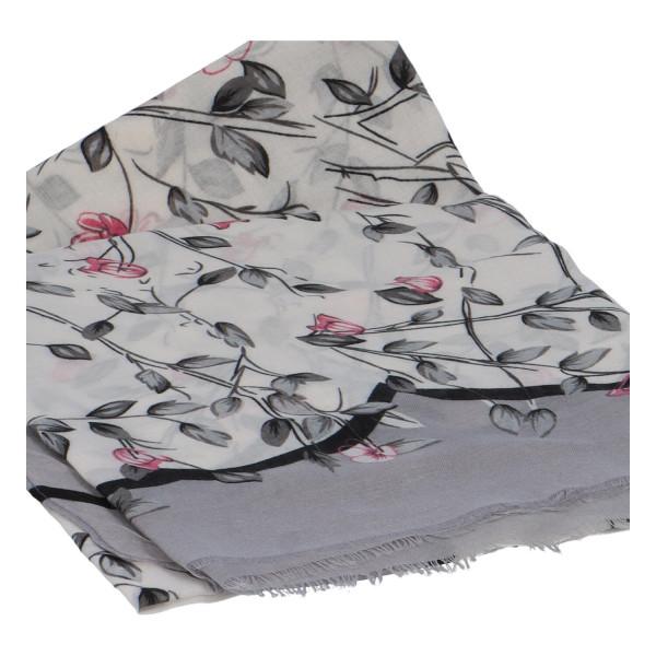 Krásný vzorovaný šátek Zemfira, bílá