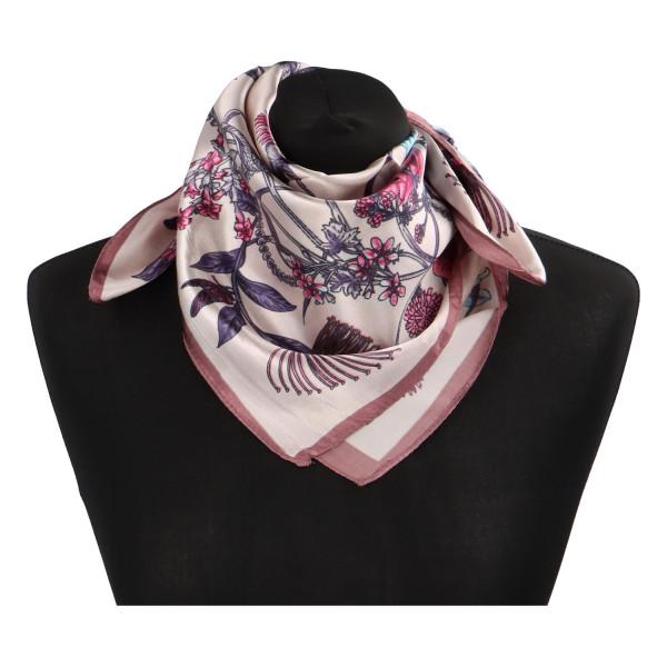 Stylový hedvábný dámský šátek Matilda, růžový