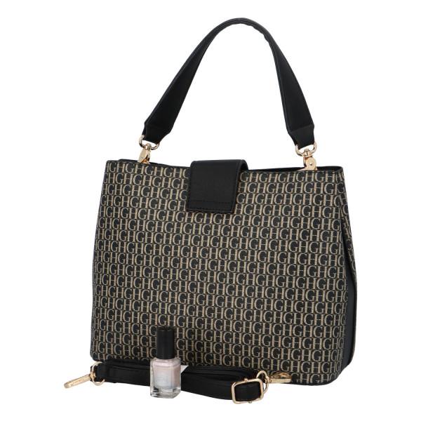 Výrazná dámská kabelka Marcel, černá