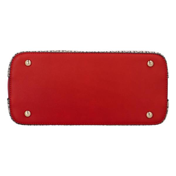 Výrazná dámská kabelka Marcel, béžová-červená
