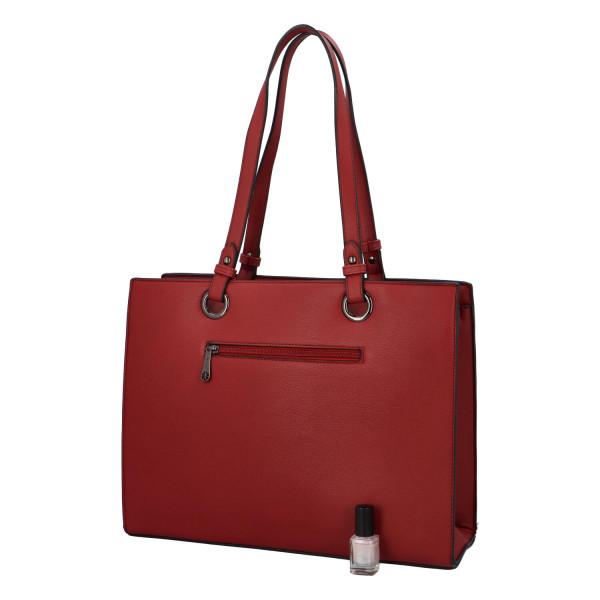 Elegantní dámská kabelka přes rameno Jenny, červená