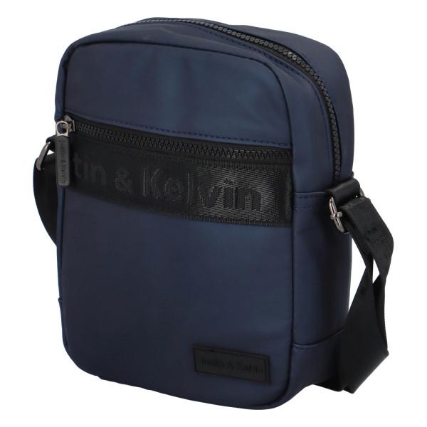 Textilní pánská crossbody taška Jura, modrá