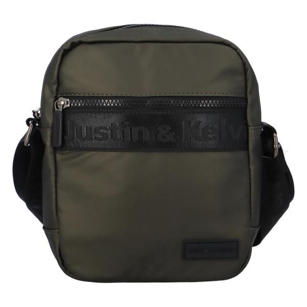 Textilní pánská crossbody taška Jura, zelená