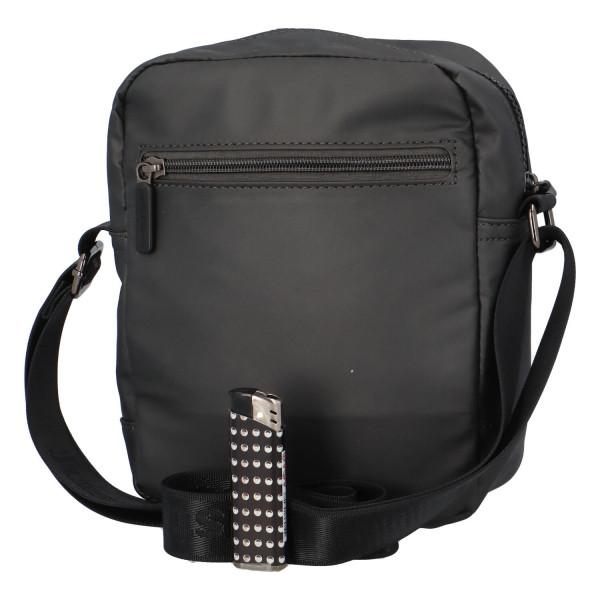 Textilní pánská crossbody taška Jura, šedá