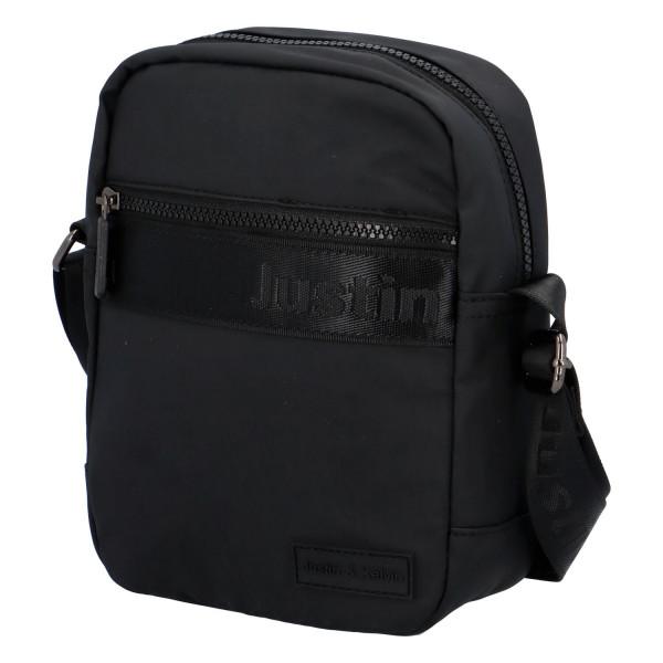 Textilní pánská crossbody taška Jura, černá