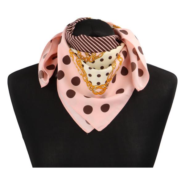 Elegantní hedvábný šátek Nadia se vzorem, světle růžová