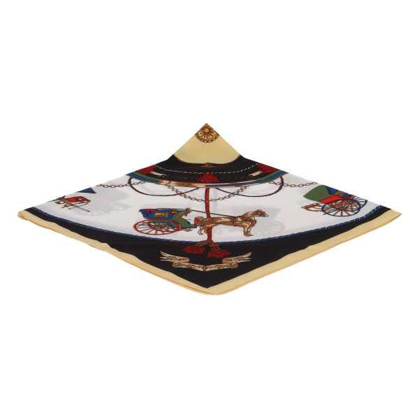 Elegantní hedvábný šátek Nadia se vzorem, barevný
