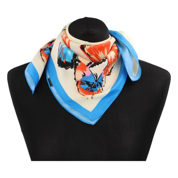 Elegantní hedvábný šátek Nadia se vzorem, světlý