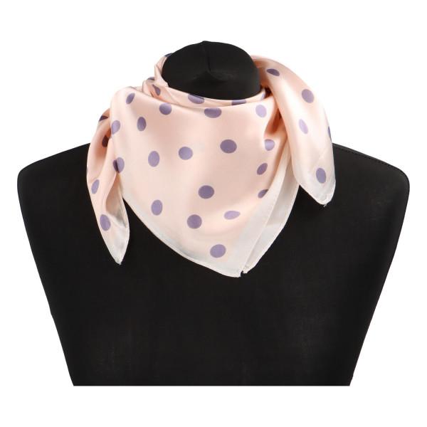 Stylový hedvábný dámský šátek Matilda, světle růžová